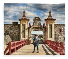 Louisbourg Fortress, Nova Scotia Fleece Blanket