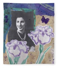 Louise In Boston 1944 In Memory Of My Mother Fleece Blanket