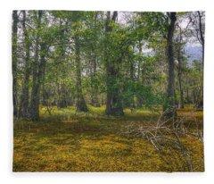 Louisiana Swamp Fleece Blanket