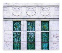 Louisville Temple Details Fleece Blanket