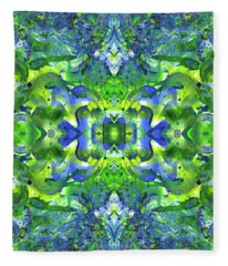 Sacred Geometry Mixed Media Fleece Blankets