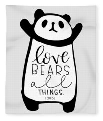 Love Bears All Things Fleece Blanket