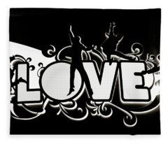 Love Beatles Sign Vegas Fleece Blanket