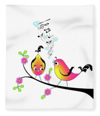 Love Bird Serenade Fleece Blanket
