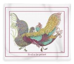 Love Birds Dancing Fleece Blanket