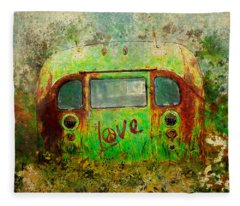 Love Bus Fleece Blanket