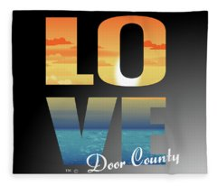 Love Door County Fleece Blanket