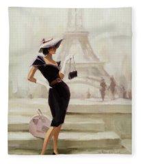 Love, From Paris Fleece Blanket