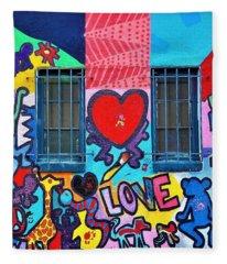 Love Haring  Fleece Blanket