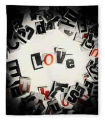 Love In Letters Fleece Blanket