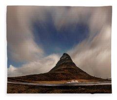 Fleece Blanket featuring the photograph Love In Nature Over Kirkjufell by Pradeep Raja PRINTS