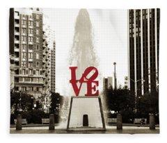 Love In Philadelphia Fleece Blanket