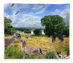 Love In The Chesire, England Countryside Fleece Blanket