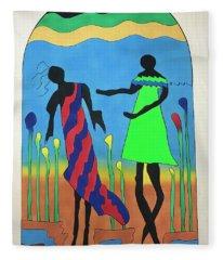 Love In The Reeds Fleece Blanket