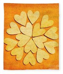Love Interlinked Fleece Blanket