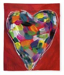Love Is Colorful - Art By Linda Woods Fleece Blanket