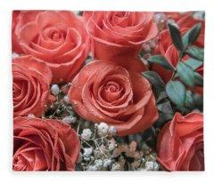 Love Is In Bloom 2 Fleece Blanket