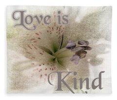 Love Is Kind Fleece Blanket