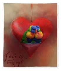 Love Is...being With You Fleece Blanket