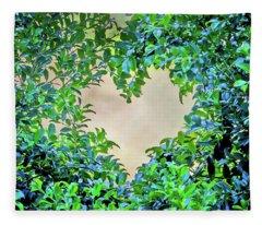 Love Leaves Fleece Blanket