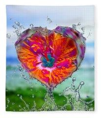 Love Makes A Splash Fleece Blanket