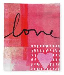 Love Notes- Art By Linda Woods Fleece Blanket