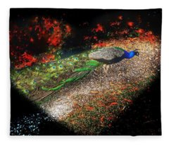 Love Of Peacock Fleece Blanket