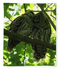 Love Owls Fleece Blanket