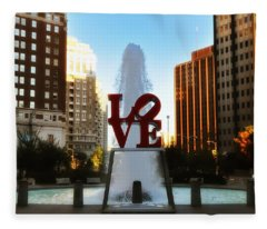 Love Park - Love Conquers All Fleece Blanket