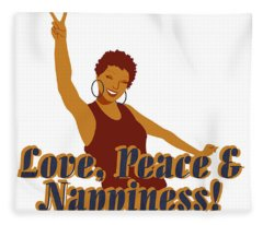 Love Peace And Nappiness Fleece Blanket