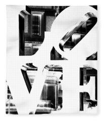 Love Philadelphia White  Fleece Blanket