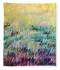 Love Reigns Fleece Blanket