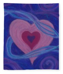 Love Ribbons Fleece Blanket
