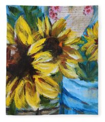 Love Sunflowers Fleece Blanket