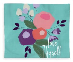 Love Thyself- Art By Linda Woods Fleece Blanket
