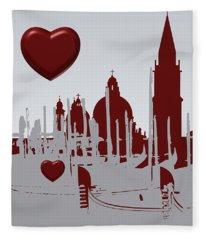 Love Venice Fleece Blanket