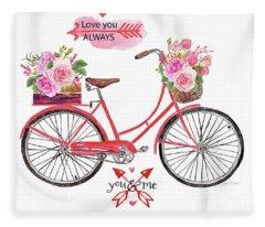 Love You Always Valentine Fleece Blanket