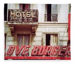 Loveburger Hotel Fleece Blanket