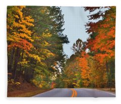 Lovely Autumn Trees Fleece Blanket
