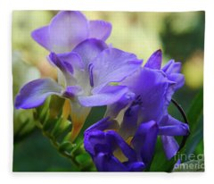 Lovely Freesia's Fleece Blanket