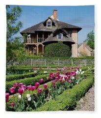 Lovely Garden And Cottage Fleece Blanket