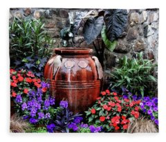 Lovely Garden  Fleece Blanket