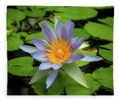 Lovely Nymphaea Fleece Blanket
