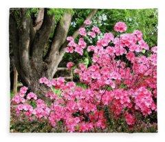 Lovely Pink Azalea Fleece Blanket