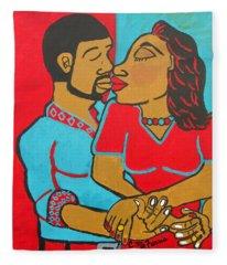 Lovers Embrace Fleece Blanket
