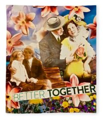 Lovers Together Fleece Blanket