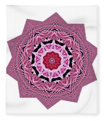 Loving Rose Mandala By Kaye Menner Fleece Blanket