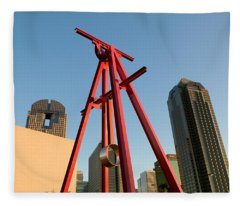 Low Angle View Of A Sculpture, Dallas Fleece Blanket