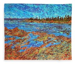 Low Tide Oak Bay Nb Fleece Blanket