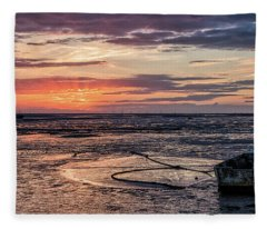 Low Tide, Thurstaston Fleece Blanket